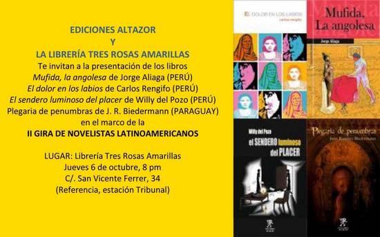 Presentación II Gira Novelistas Lationamericanos, Editorial Altazor